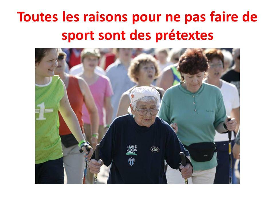 Toutes les raisons pour ne pas faire de sport sont des prétextes