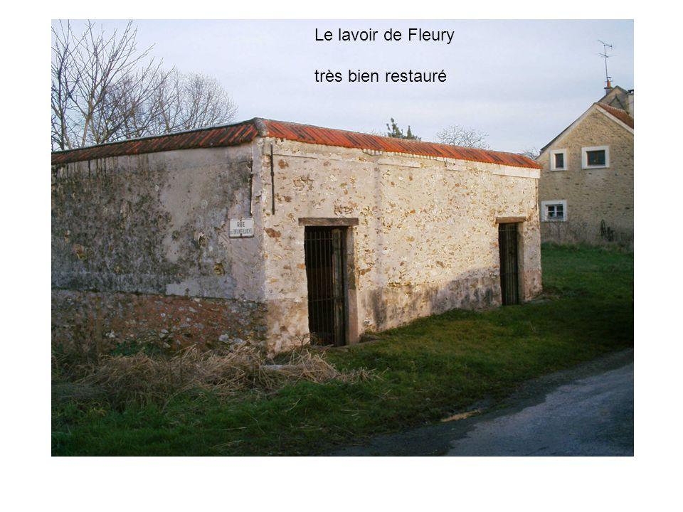 Le lavoir de Fleury très bien restauré