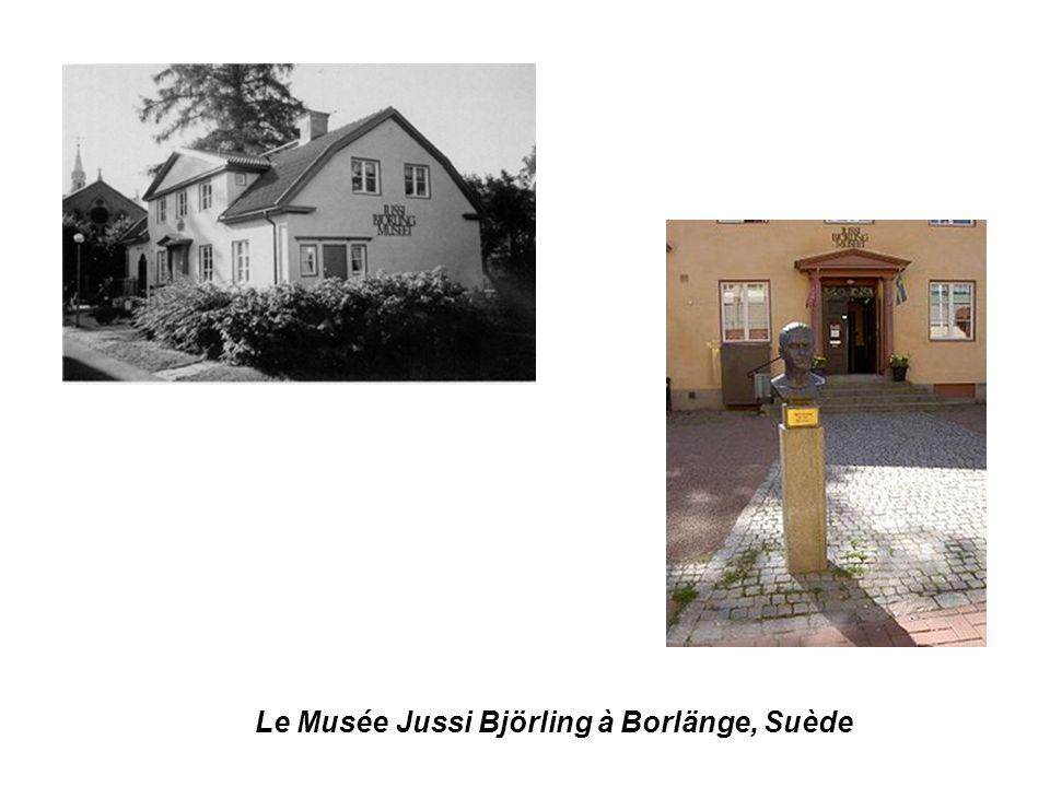 Le Musée Jussi Björling à Borlänge, Suède