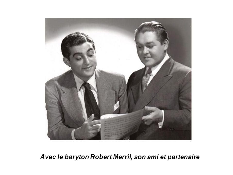 Avec le baryton Robert Merril, son ami et partenaire