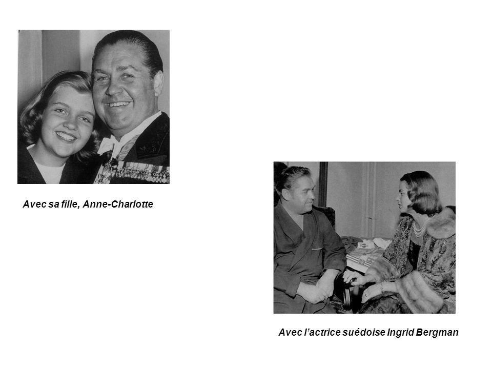 Avec sa fille, Anne-Charlotte Avec lactrice suédoise Ingrid Bergman