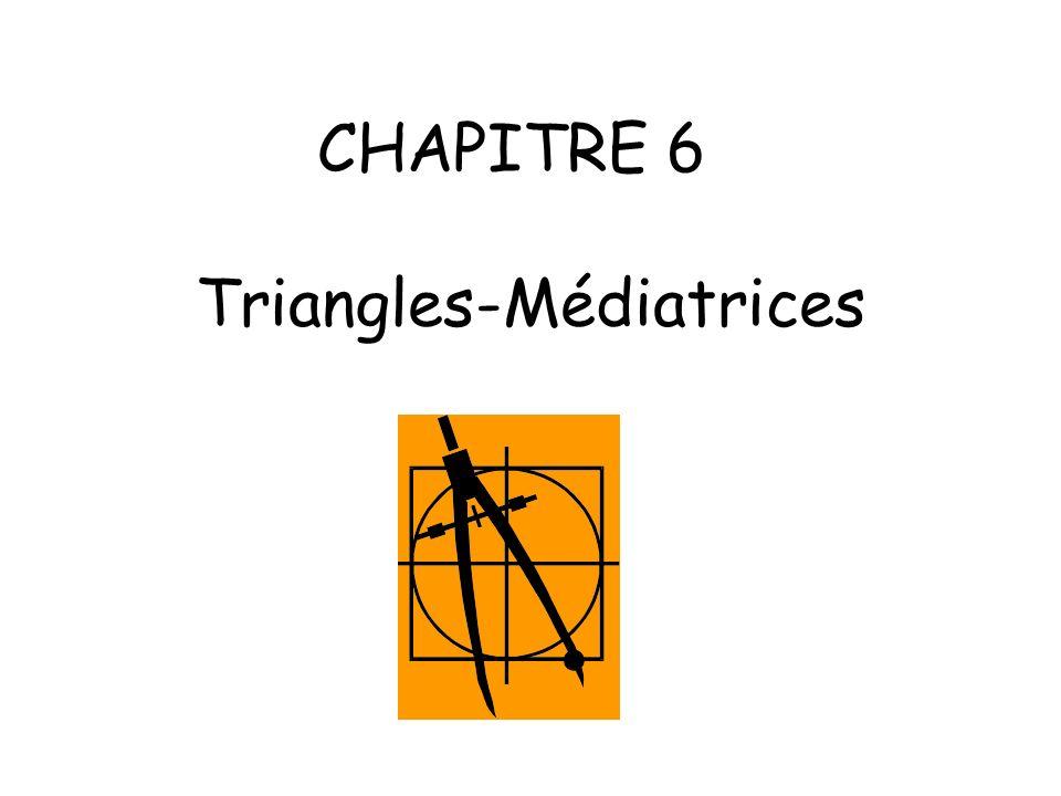2) Construction dune médiatrice avec le compas Programme de construction 1 : Tracer un segment [AB].