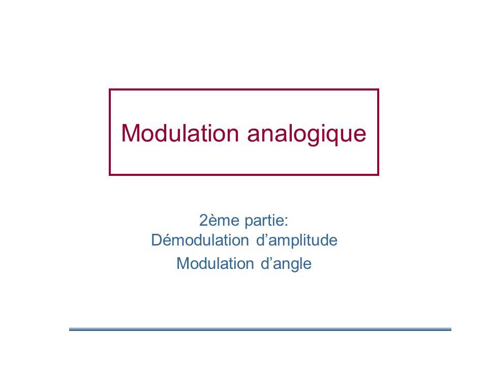 Modulation analogique 2ème partie: Démodulation damplitude Modulation dangle