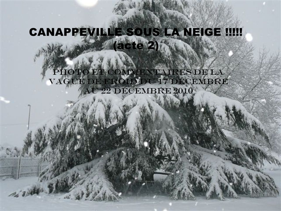 CANAPPEVILLE SOUS LA NEIGE !!!!.