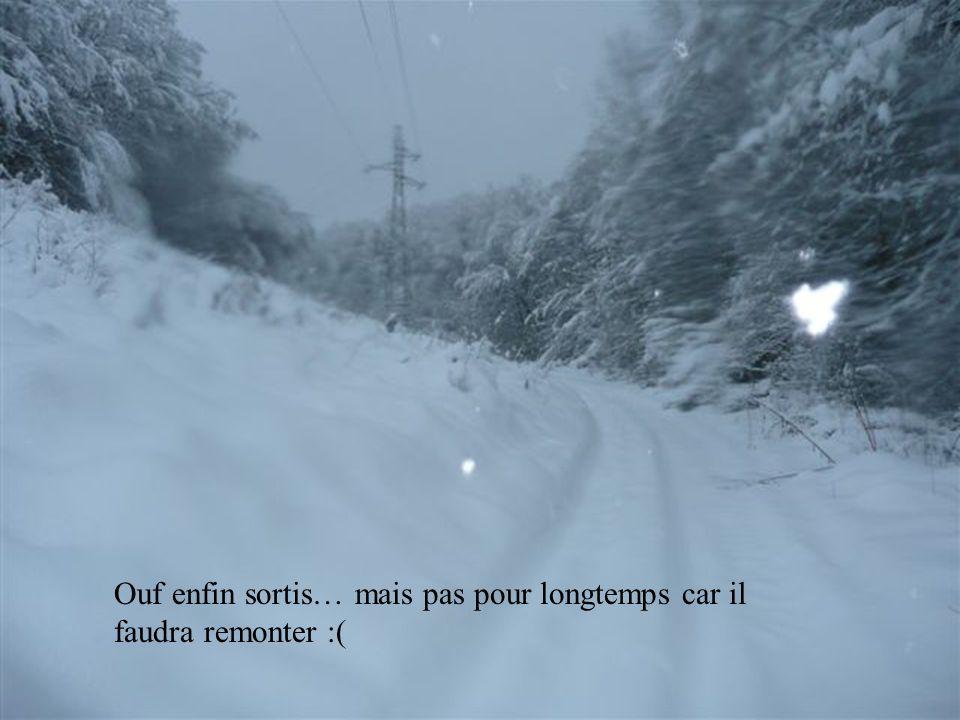 Au début cétait amusant de recevoir de la neige et dentendre craquer partout mais à la vu de ceci en plein sur le chemin, on a tout de suite compris f