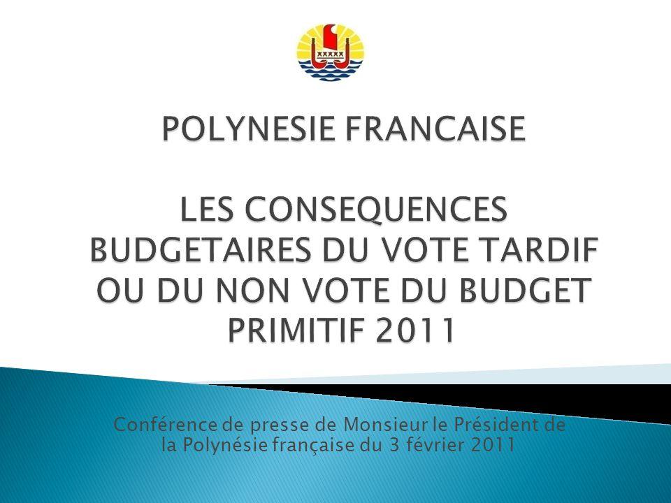 Conférence de presse de Monsieur le Président de la Polynésie française du 3 février 2011