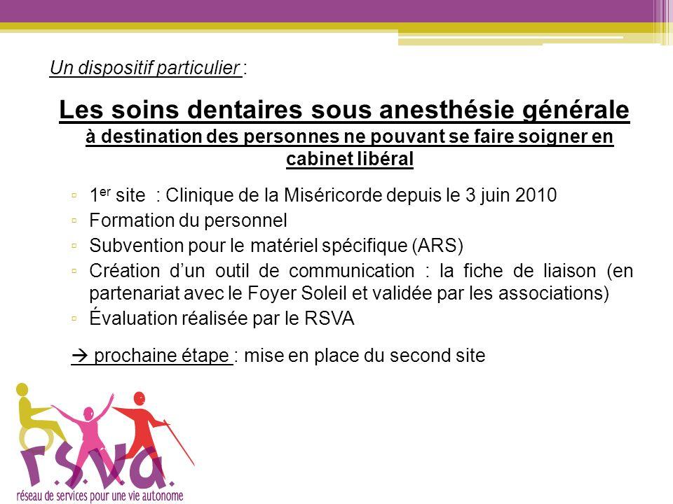 Un dispositif particulier : Les soins dentaires sous anesthésie générale à destination des personnes ne pouvant se faire soigner en cabinet libéral 1