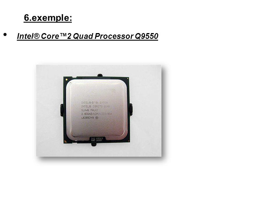 6.exemple: Intel® Core2 Quad Processor Q9550