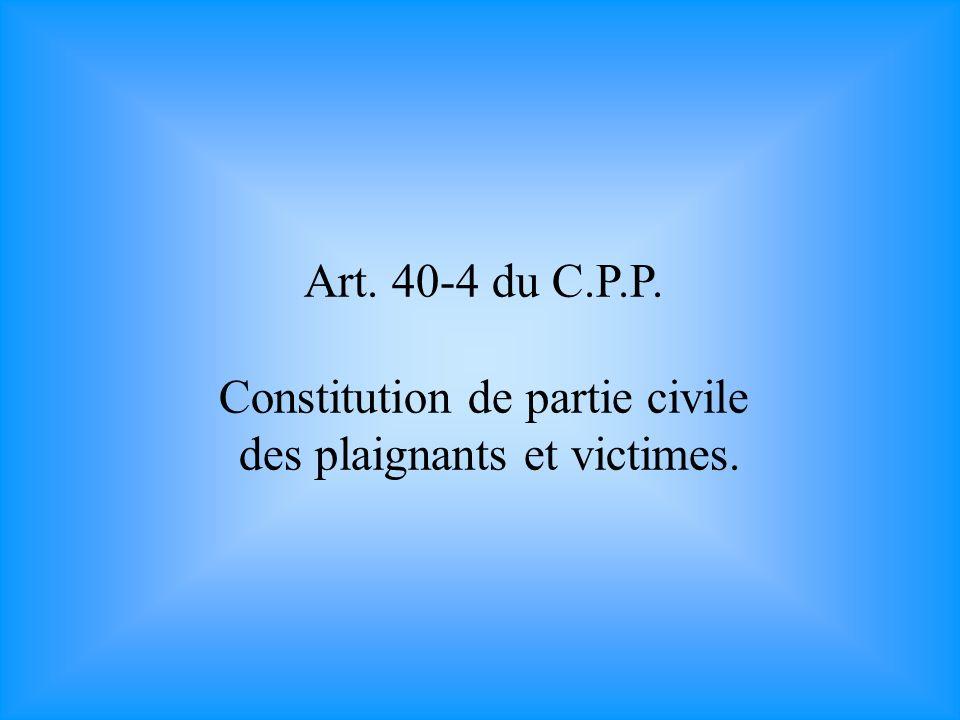 Art.41 du C.P.P.