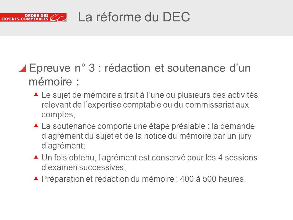 6 6 La VAE pour lobtention du DEC Nouvelle voie daccès au DEC instituée par le décret n° 2009-1789 du 30 déc.
