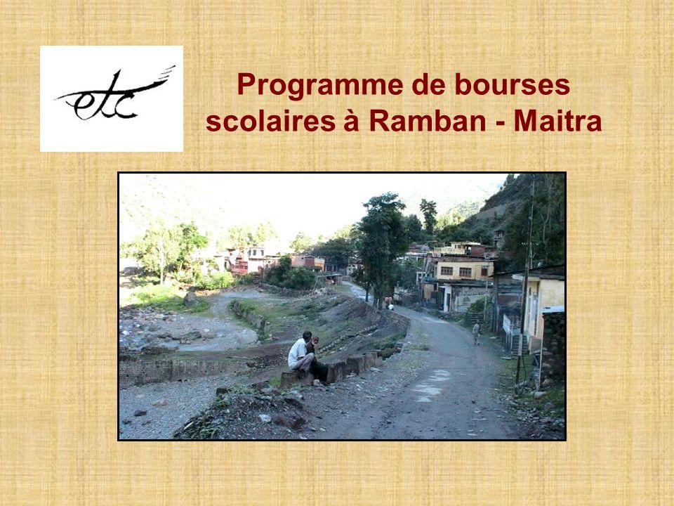Programme de bourses scolaires à Ramban - Maitra