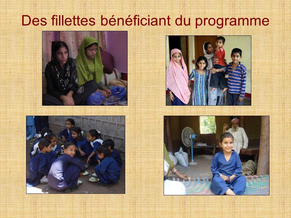 Des fillettes bénéficiant du programme