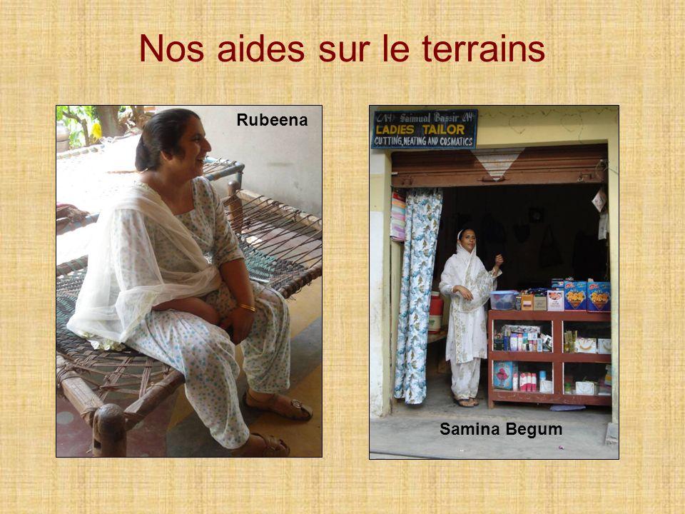 Nos aides sur le terrain Rubeena travaille dans un centre de PMI et fait de la prévention auprès des familles rurales.