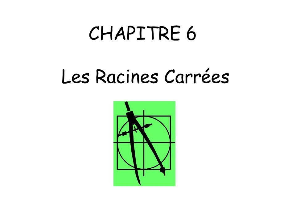 CHAPITRE 6 Les Racines Carrées