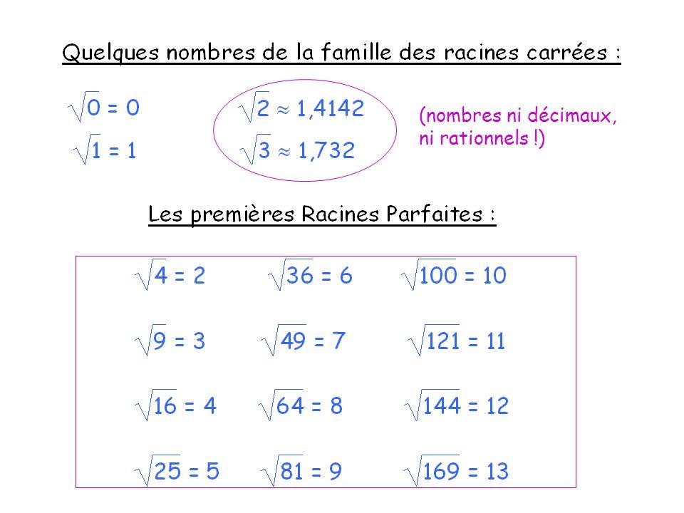 (nombres ni décimaux, ni rationnels !)