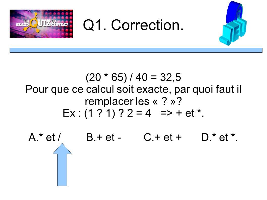 Q1. Correction.