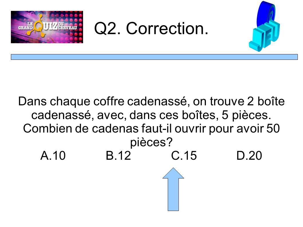 Q2. Correction.