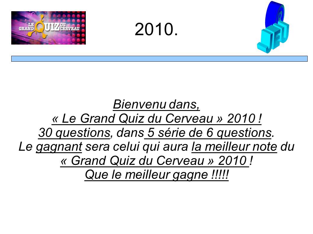 Bienvenu dans, « Le Grand Quiz du Cerveau » 2010 .