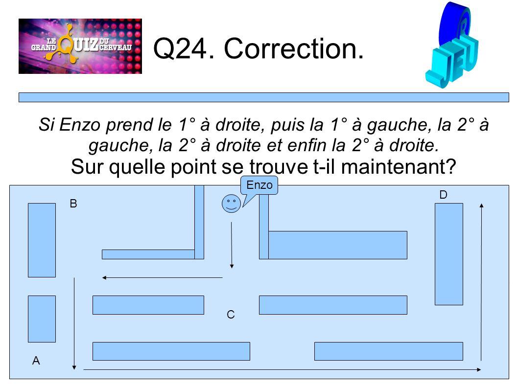 Q24. Correction.