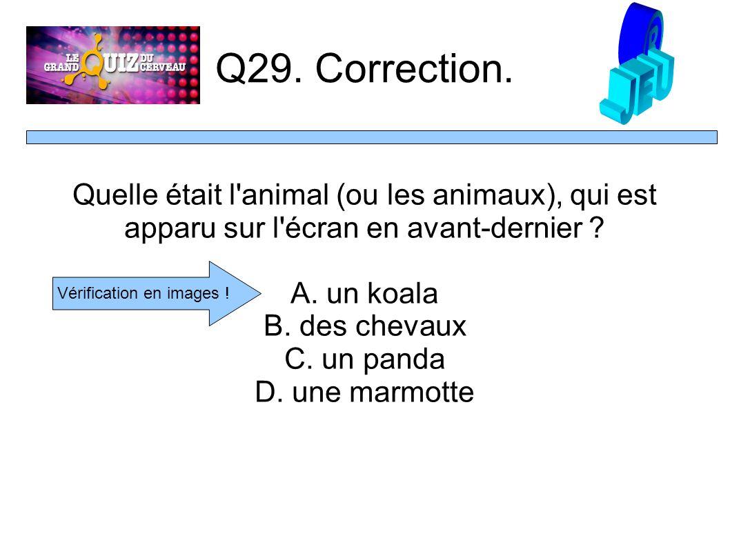 Q29. Correction.