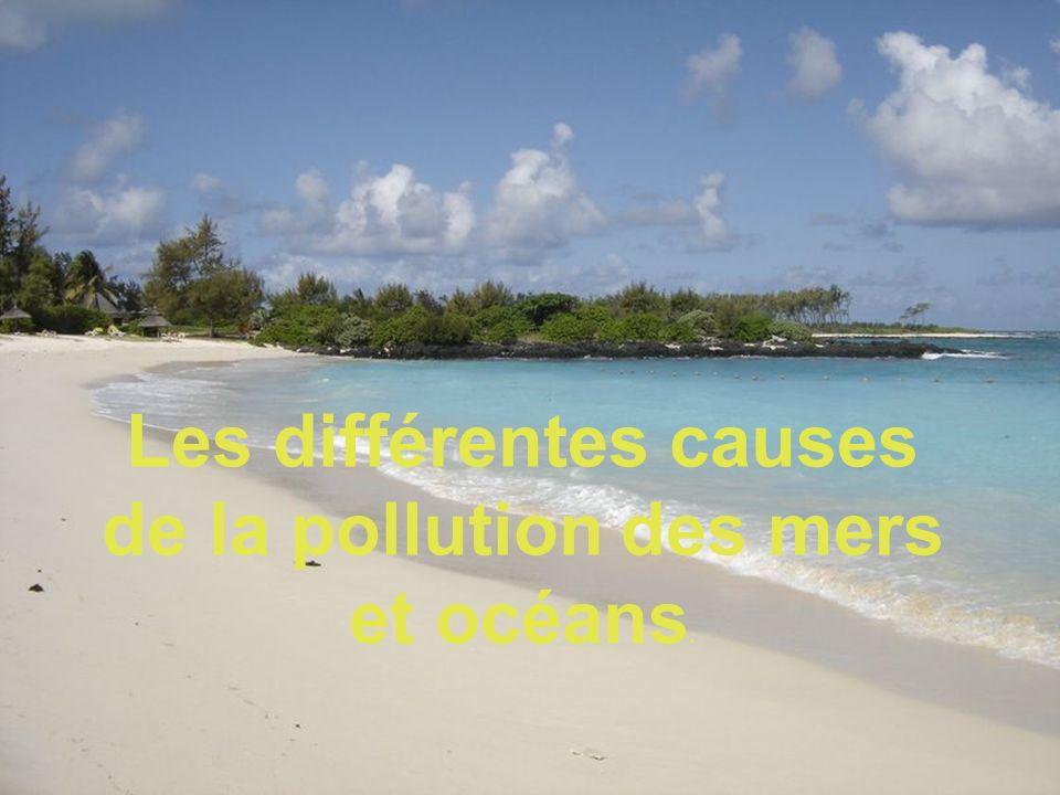 Les différentes causes de la pollution des mers et océans.