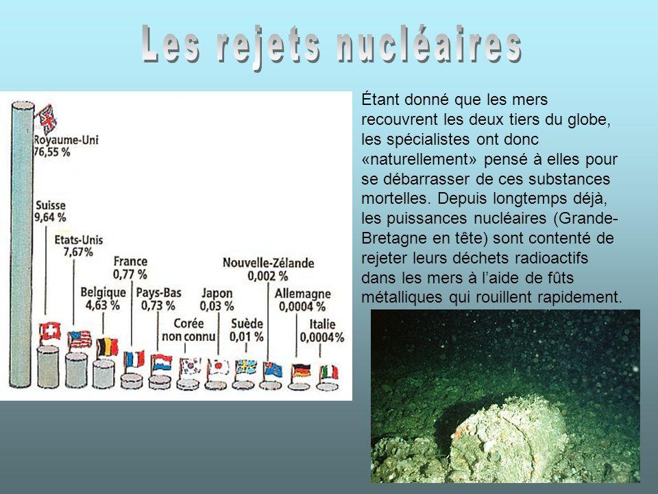 Étant donné que les mers recouvrent les deux tiers du globe, les spécialistes ont donc «naturellement» pensé à elles pour se débarrasser de ces substa