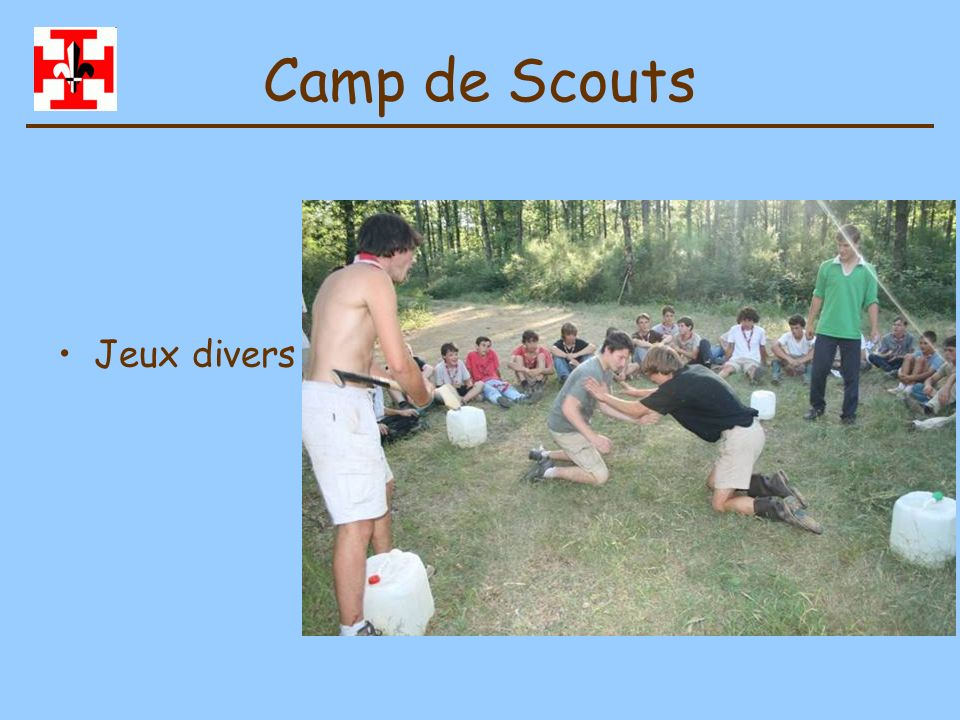 Camp de Scouts Jeux divers