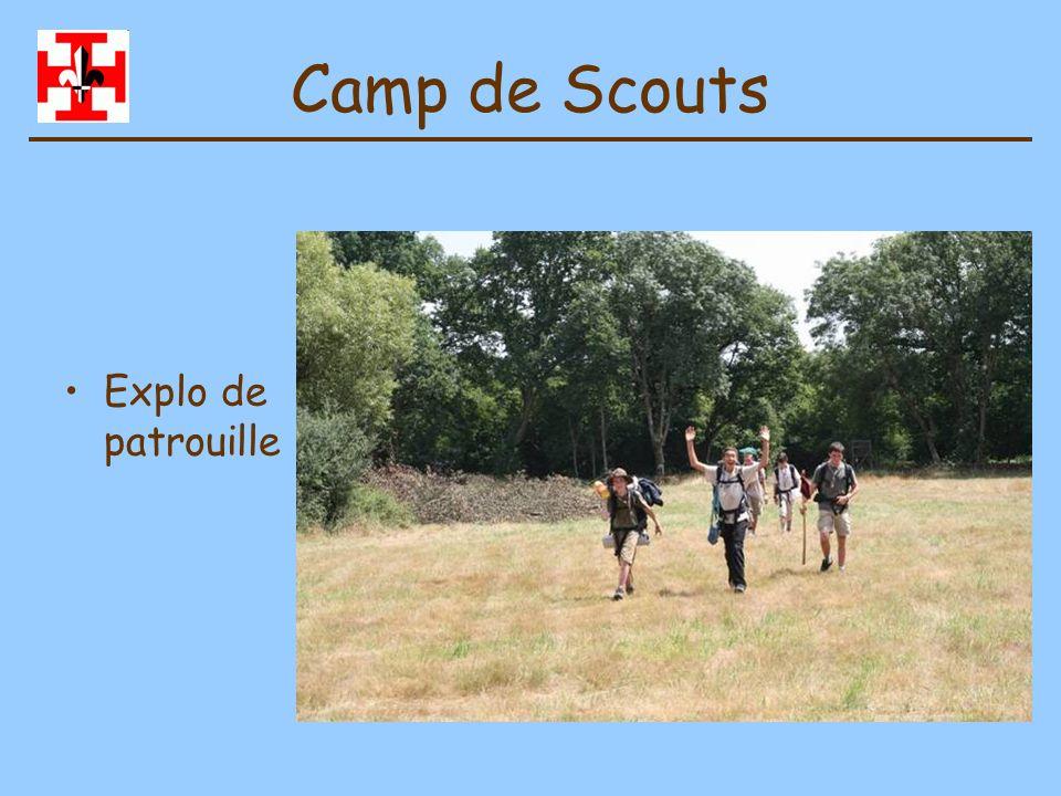 Camp de Scouts Exploration de troupe