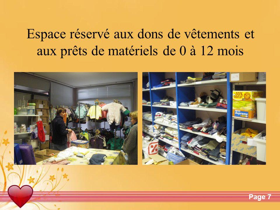 Free Powerpoint TemplatesPage 7 Espace réservé aux dons de vêtements et aux prêts de matériels de 0 à 12 mois