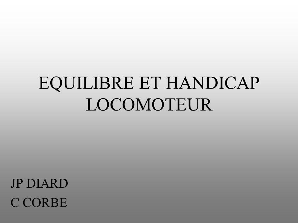 EQUILIBRE ET HANDICAP LOCOMOTEUR JP DIARD C CORBE