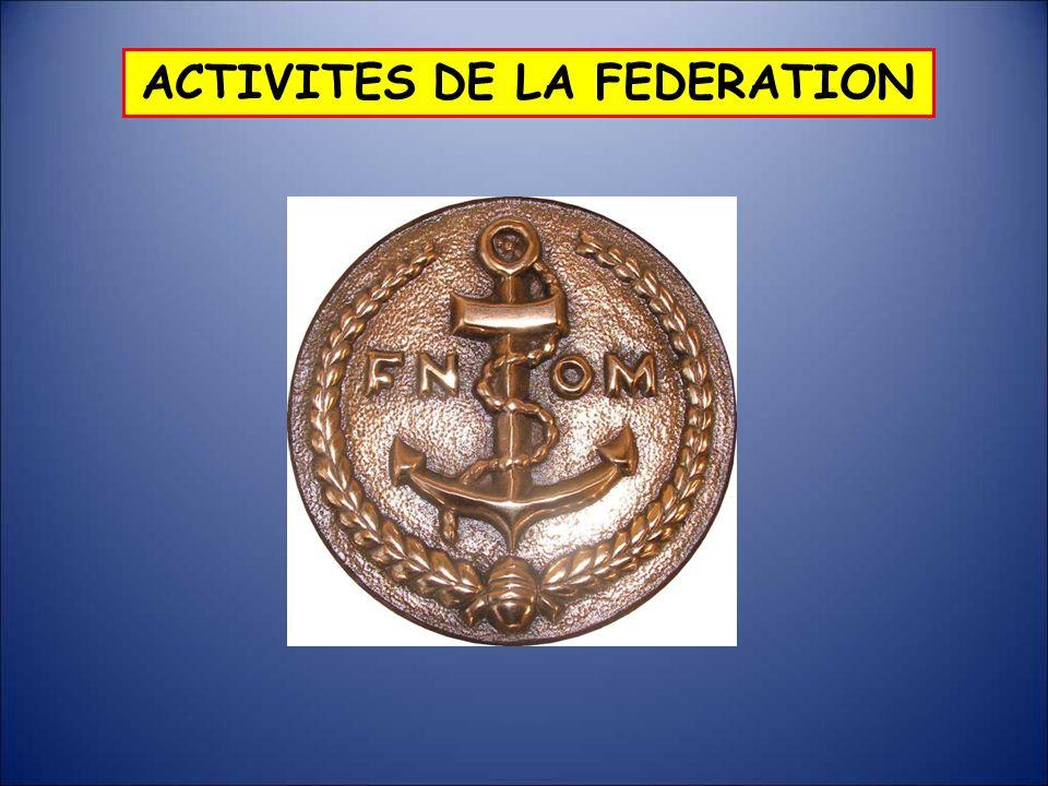 ACTIVITES DE LA FEDERATION