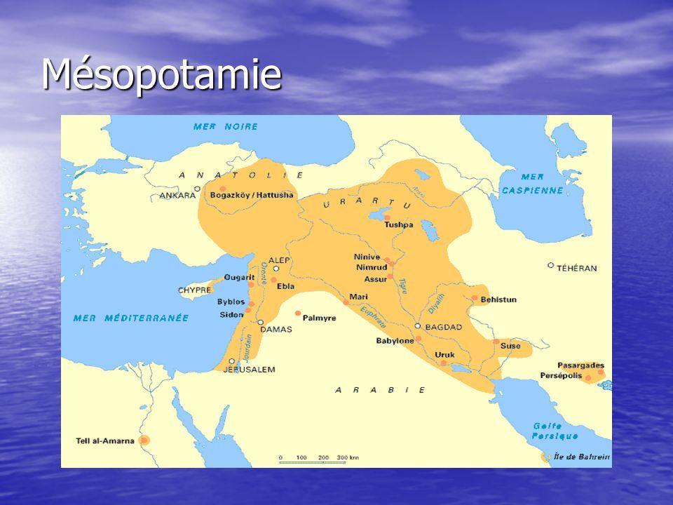 Largile Véritable ressource de la Mésopotamie –> support privilégié de lécriture cunéiforme Largile est à lorigine de la vie –> cf.
