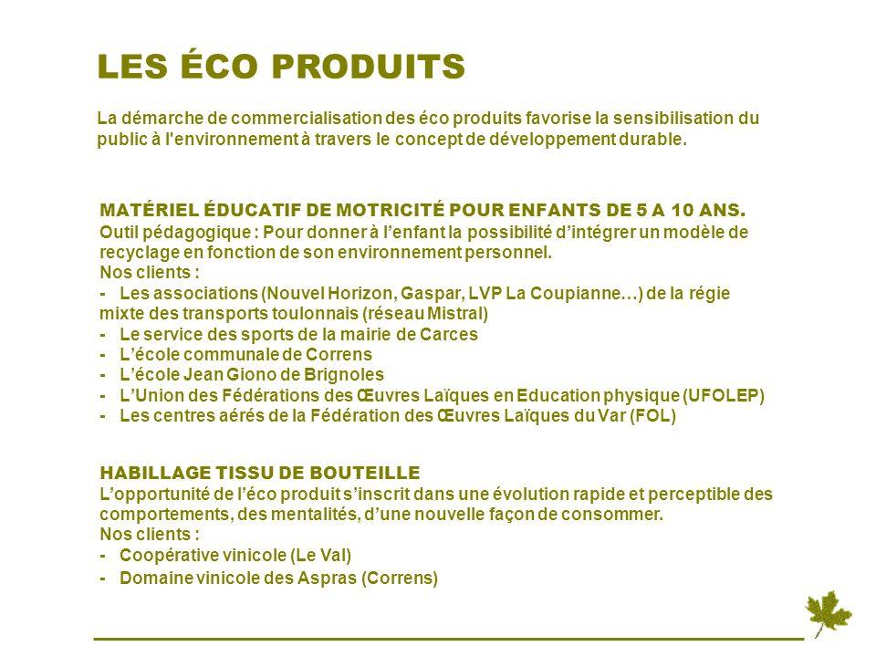 NOS OBJECTIFS SENSIBILISER LES ENFANTS par un support livret inter actif sur le développement durable (territoires de la Provence Verte et Cœur du Var).