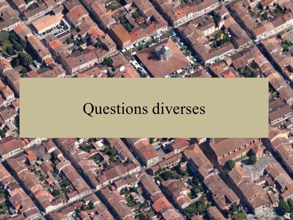26 Questions diverses 26