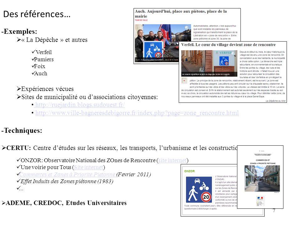 7 -Exemples: « La Dépêche » et autres Verfeil Pamiers Foix Auch Expériences vécues Sites de municipalité ou dassociations citoyennes: http://ruejardin