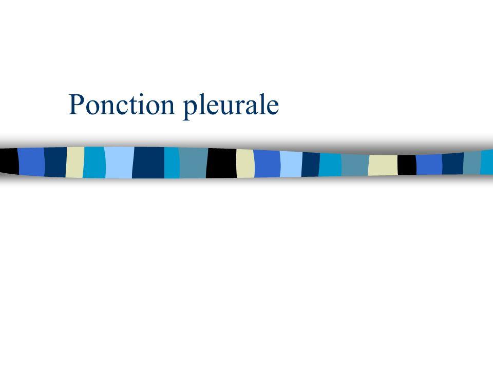 Ponction pleurale