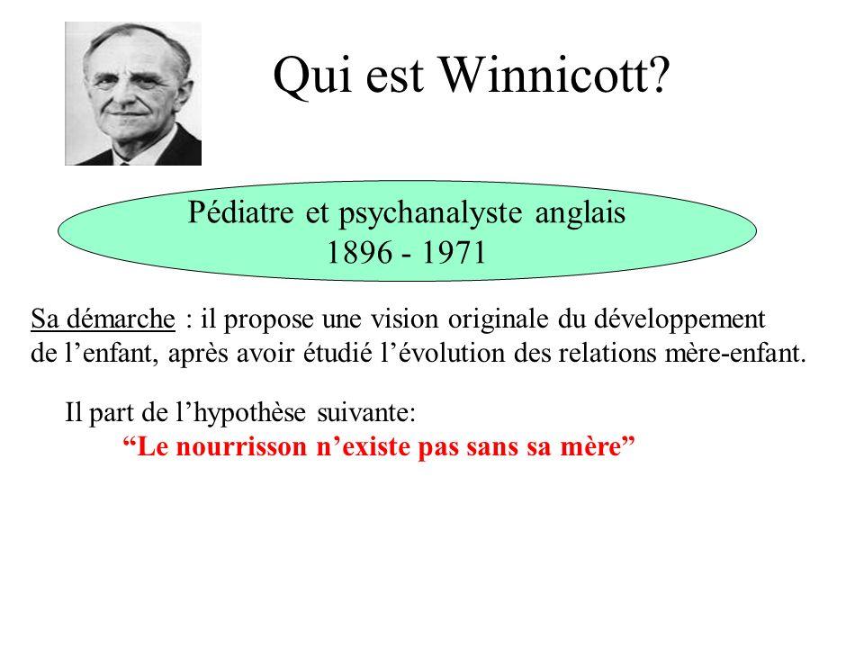 Qui est Winnicott.