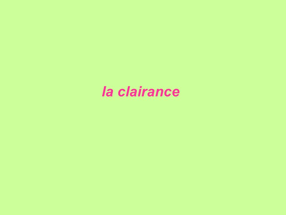 la clairance