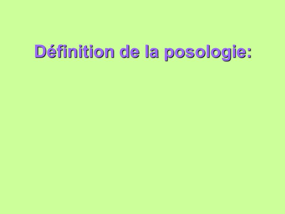 Définition de la posologie: