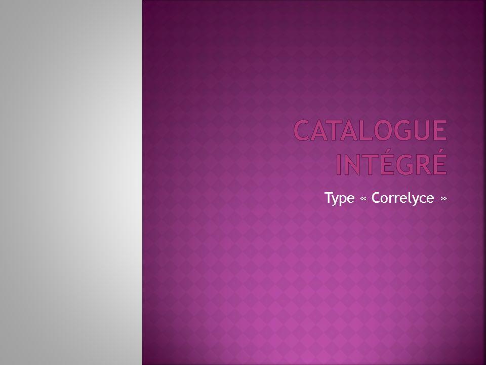 Type « Correlyce »