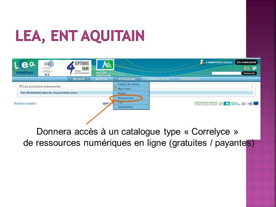 Donnera accès à un catalogue type « Correlyce » de ressources numériques en ligne (gratuites / payantes)