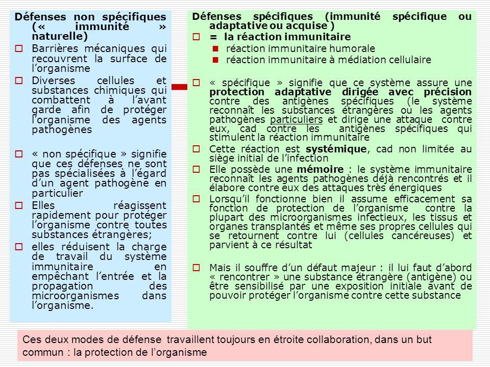 40 UE 2.5 processus inflammatoi res et infectieux - michèle brière - septembre 2010 40 Défenses non spécifiques (« immunité » naturelle) Barrières méc