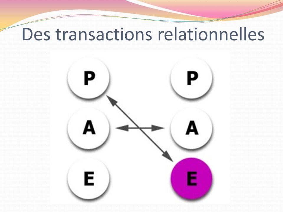 Des transactions relationnelles