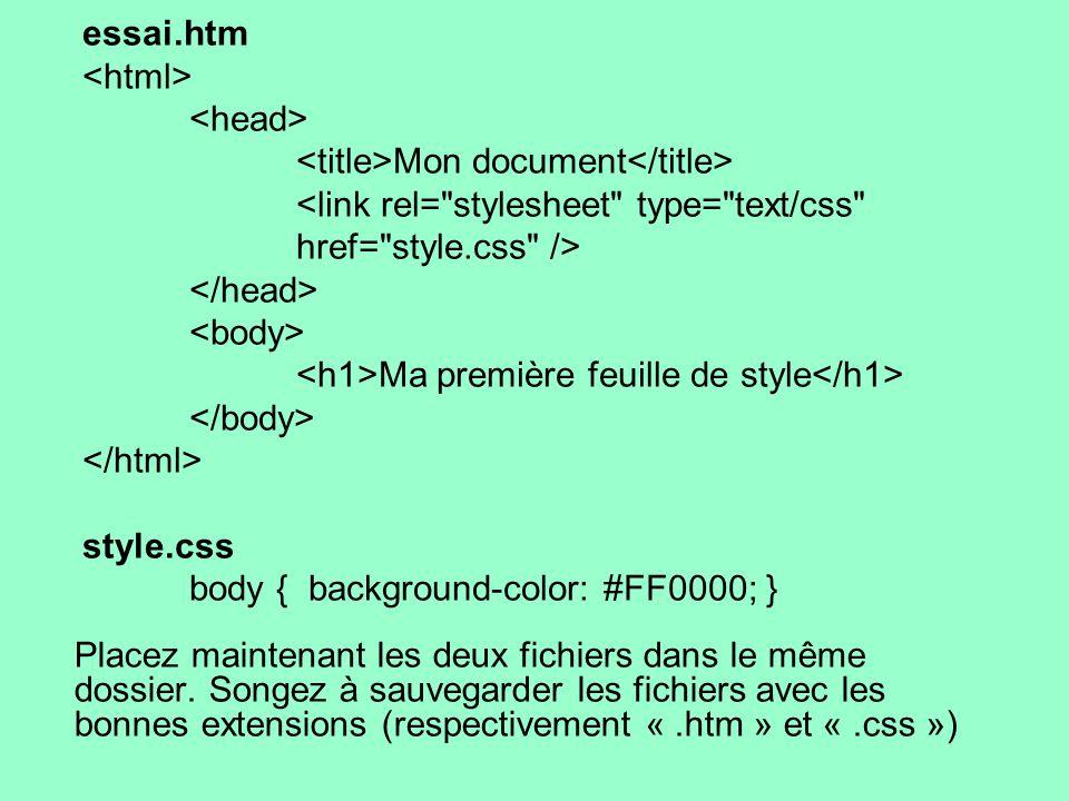 Placez maintenant les deux fichiers dans le même dossier. Songez à sauvegarder les fichiers avec les bonnes extensions (respectivement «.htm » et «.cs