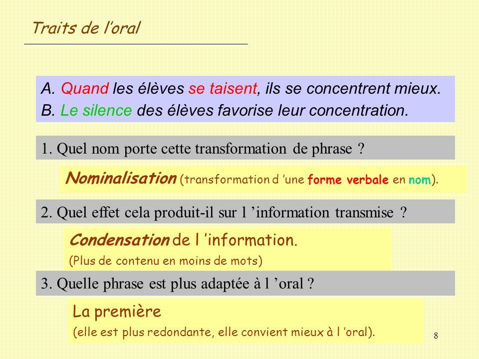 59 Tournures particulières des langages oral et écrit.