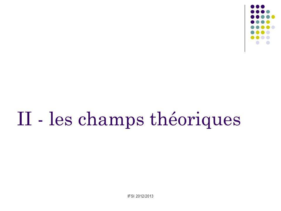 IFSI 2012/2013 II - les champs théoriques