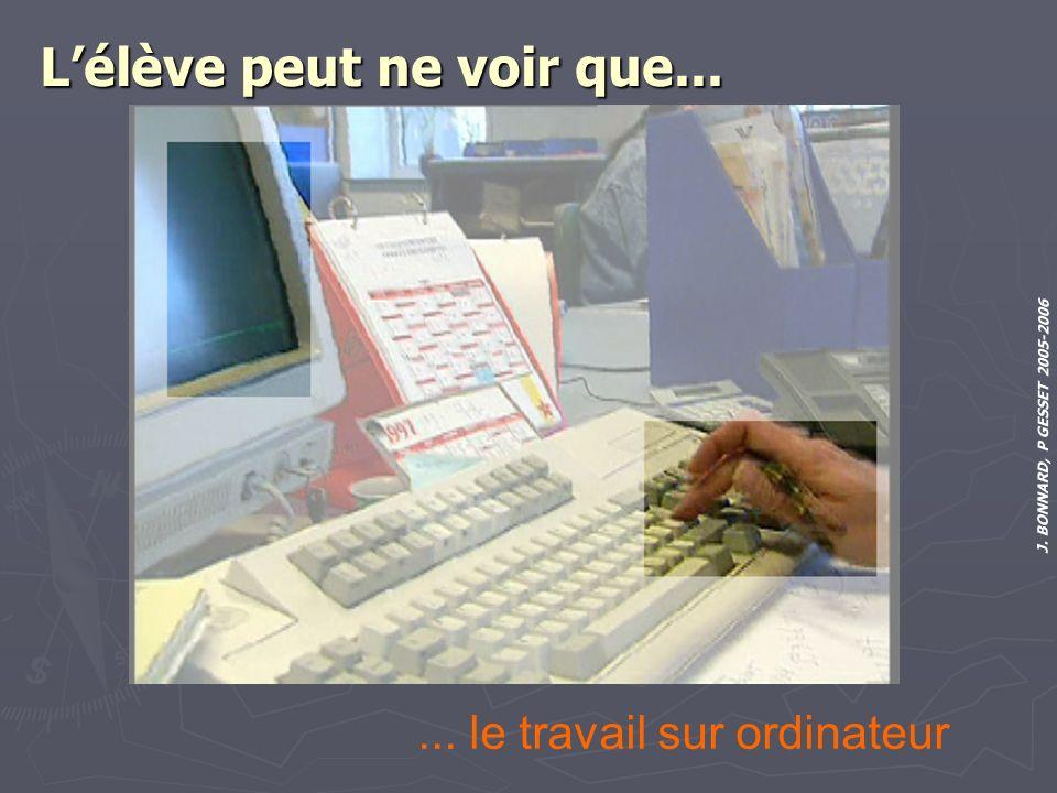 J. BONNARD, P GESSET 2005-2006 Lélève peut ne voir que...... le travail sur ordinateur