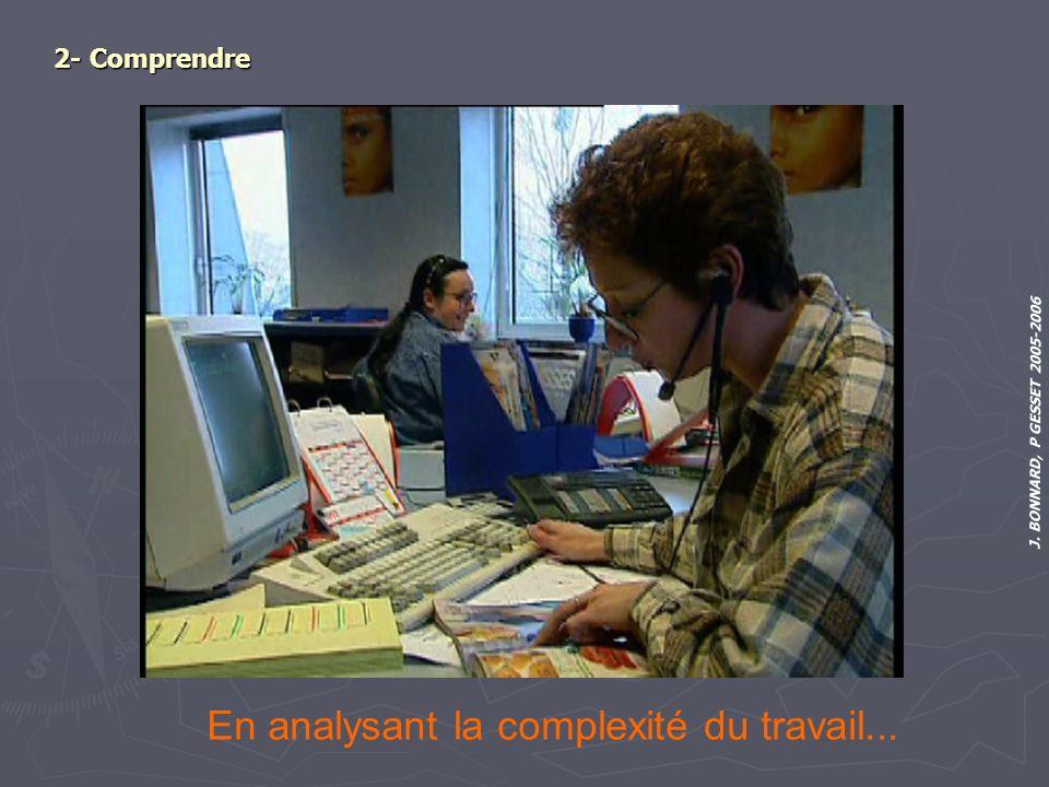 J. BONNARD, P GESSET 2005-2006 2- Comprendre En analysant la complexité du travail...
