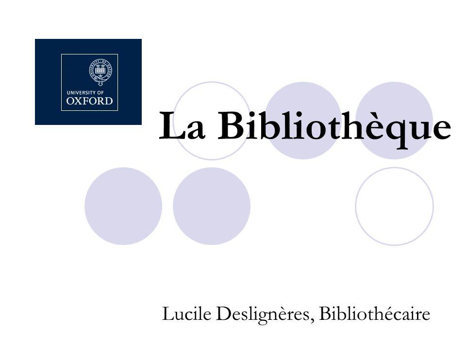 La Bibliothèque Lucile Deslignères, Bibliothécaire