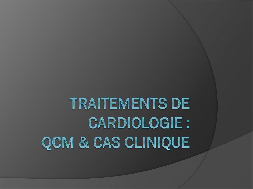QCM : quelles associations sont synergiques.